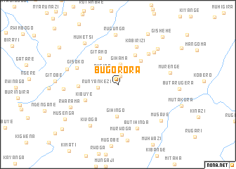map of Bugorora