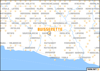 map of Buisserette