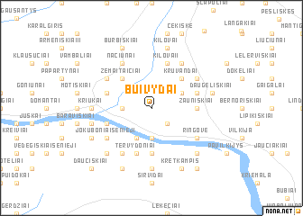 map of Buivydai