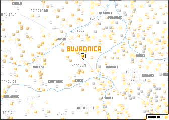 map of Bujadnica