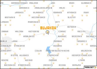 map of Bujaków