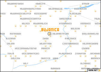 map of Bujanica