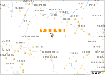 map of Bukanagara