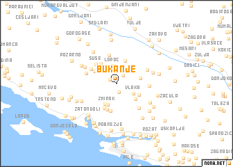 map of Bukanje