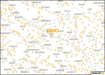map of Bukići