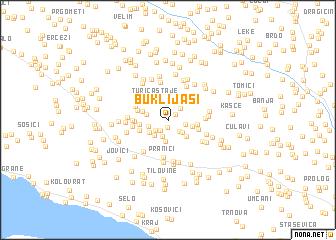 map of Buklijaši