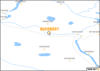 map of Bukobory