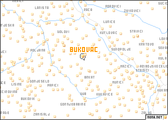 map of Bukovac