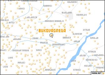 map of Bukova Greda