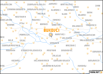 map of Bukovci