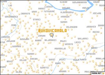 map of Bukovica Mala