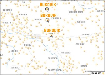 map of Bukovik