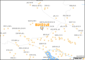 map of Bukovje