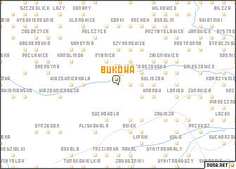 map of Bukowa