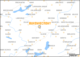 map of Bukowiec Nowy