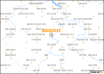 map of Bukowiec