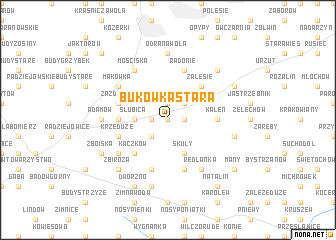 map of Bukówka Stara