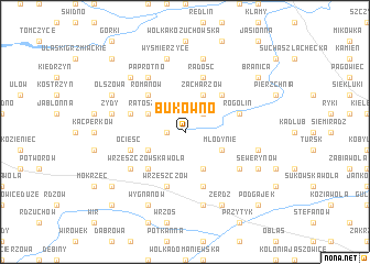 map of Bukówno