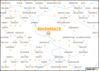 map of Bukowo Duże