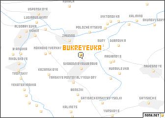 map of Bukreyevka