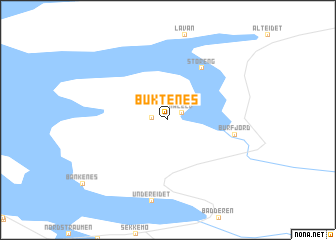 map of Buktenes