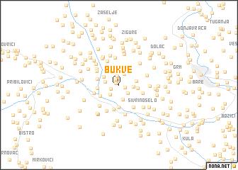 map of Bukve
