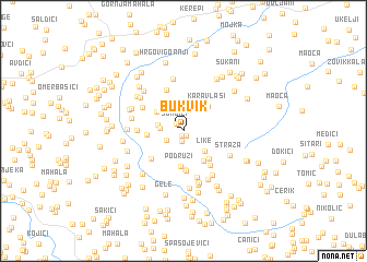 map of Bukvik