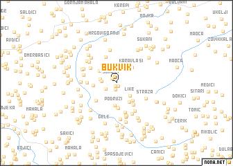 map of Bukvik