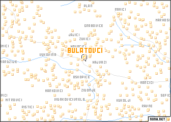 map of Bulatovci