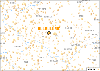 map of Bulbulušići