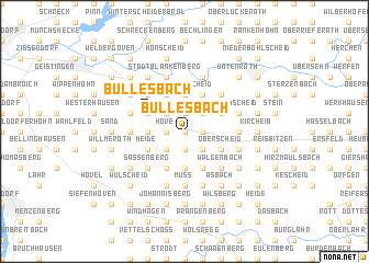 map of Büllesbach