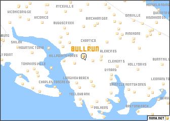 Run Usa Map.Bull Run United States Usa Map Nona Net