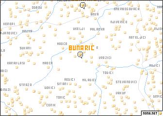 map of Bunarić