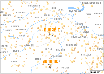 map of Bunarić