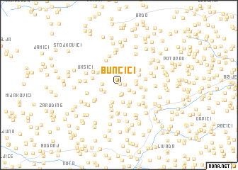 map of Bunčići