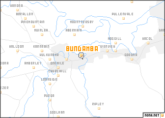 Bundamba (Australia) map - nona.net
