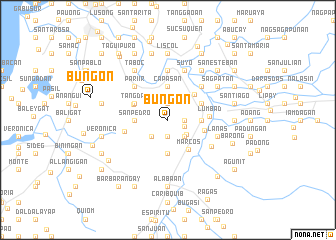 map of Bungon