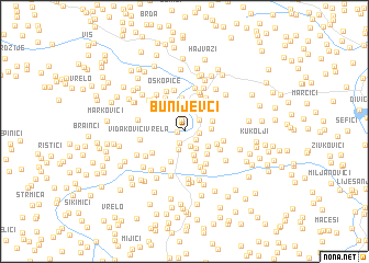 map of Bunijevci