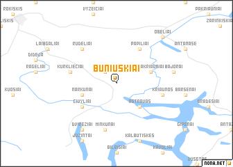 map of Buniuškiai