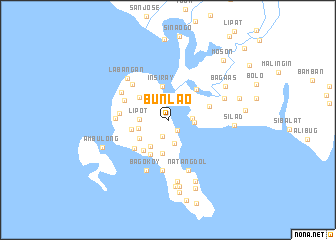 map of Bunlao