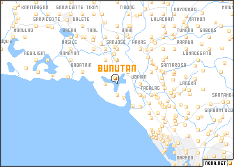 map of Bunutan