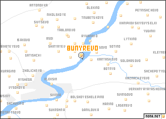 map of Bunyrëvo
