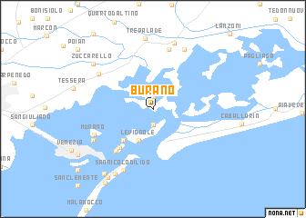 Burano (Italy) map   nona.net