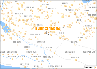 map of Burazin Donji