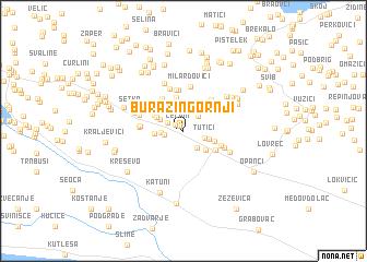 map of Burazin Gornji