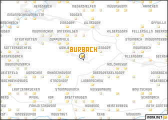 map of Burbach