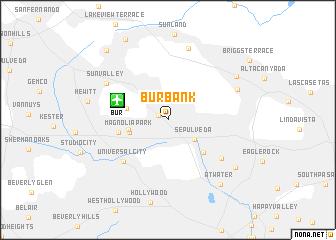 map of Burbank