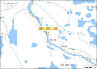 map of Burbridge