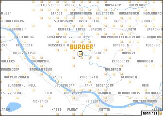map of Bürder