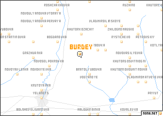 map of Burdey